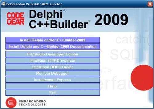 Delphi 2009 kurulum dvd ekranı